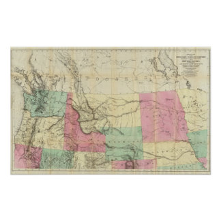 General Map of the North Pacific States Poster