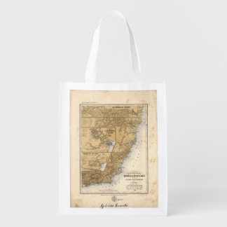 General Mappa of the Province (1865) Reusable Grocery Bag