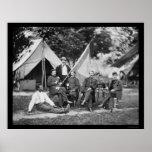 General McLaughlin y personal, Washington, DC 1865 Impresiones