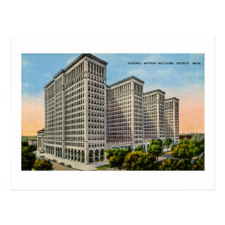 General Motors Building, Detroit, Michigan Postcard