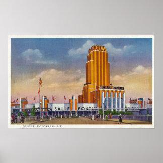 General Motors exhibe, la feria 1934 de mundo Impresiones