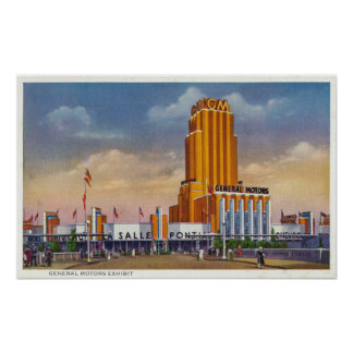 General Motors Exhibit, 1934 World's Fair Poster