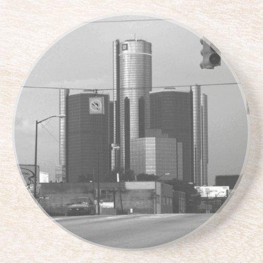 General Motors Headquarters Drink Coaster