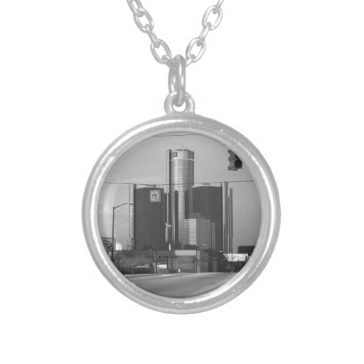 General Motors Headquarters Personalized Necklace