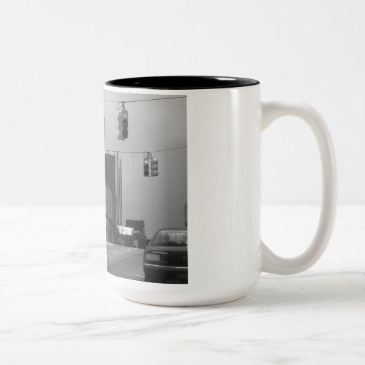 General Motors Headquarters Two-Tone Coffee Mug