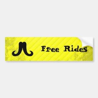 General Mustache Car Bumper Sticker