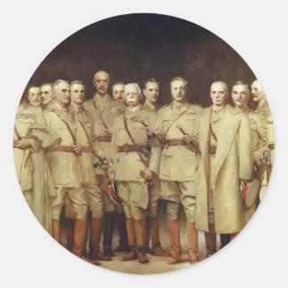 General oficiales de Juan Sargent- de la Primera Pegatina Redonda