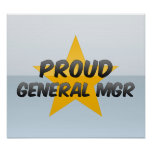 General orgulloso Mgr Posters