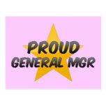 General orgulloso Mgr Tarjetas Postales