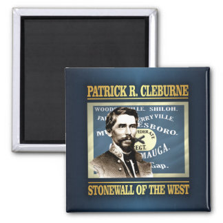General Patrick R Cleburne 2 Inch Square Magnet