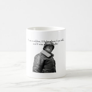 General Patton and quote Classic White Coffee Mug