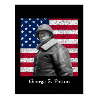 General Patton and The American Flag Postcard