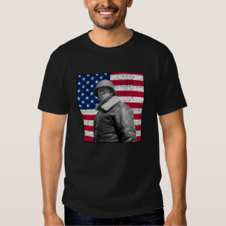 General Patton and The American Flag Tee Shirt