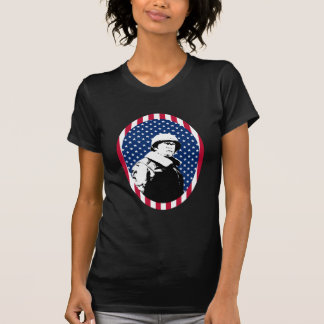 General Patton in American Flag Frame Tee Shirts
