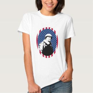 General Patton in American Flag Frame Tshirt