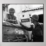 General Patton In Sicilia -- Frontera Póster