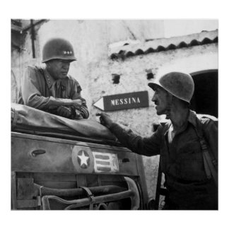 General Patton In Sicily Poster