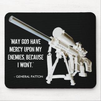 General Patton Quote del cojín de ratón AR15 Tapete De Raton