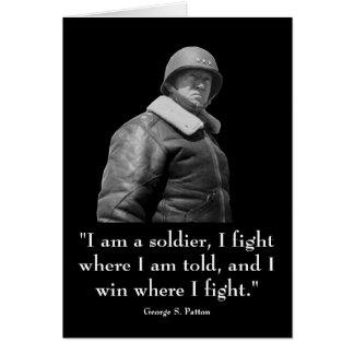 General Patton y cita Tarjeta De Felicitación