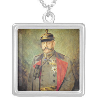 General Paul von Hindenburg, c.1916 Silver Plated Necklace