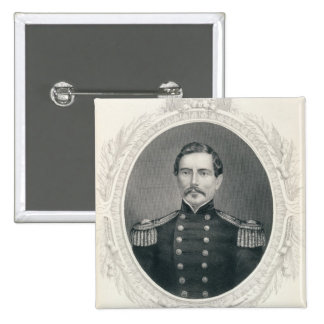 General Pedro Gustavo Toutant Beauregard Pin Cuadrado