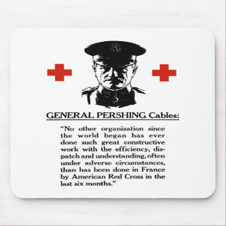 General Pershing Cables -- Red Cross Mouse Pads