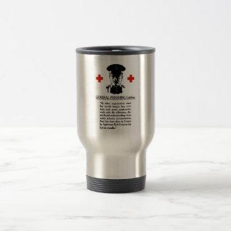 General Pershing Cables -- Red Cross Travel Mug