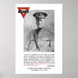 General Pershing -- La guerra unida trabaja campañ Póster
