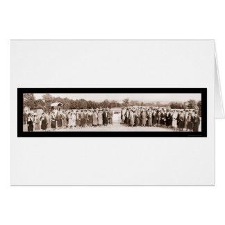 General Pershing & Ladies Photo 1930 Card
