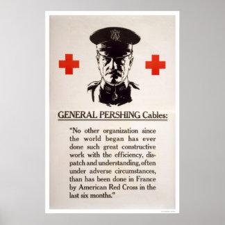 General Pershing Red Cross Poster