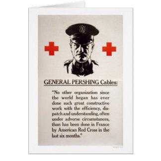 General Pershing Red Cross Poster Card