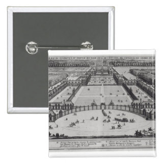 General Perspective View of the Chateau Pinback Button