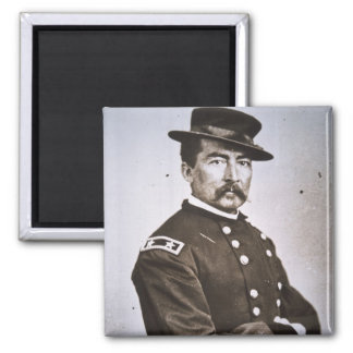 General Philip H. Sheridan (1831-88) (b/w photo) 2 Inch Square Magnet