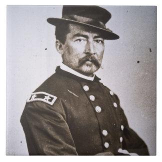 General Philip H. Sheridan (1831-88) (foto de b/w) Azulejo Cuadrado Grande