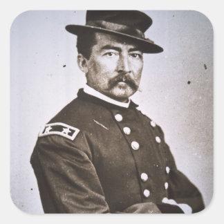 General Philip H. Sheridan (1831-88) (foto de b/w) Calcomanía Cuadrada Personalizada