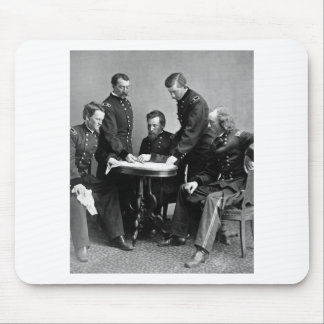 General Philip Sheridan And His Staff Mouse Pad