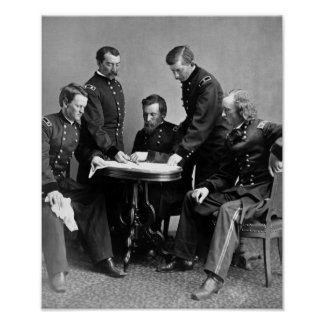 General Philip Sheridan And His Staff Poster
