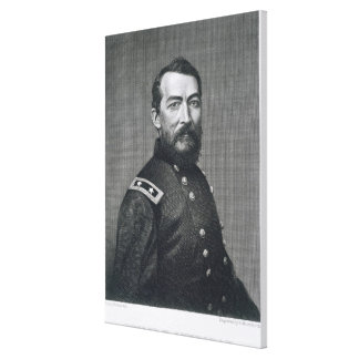 General Philip Sheridan, engraved from a photograp Canvas Print
