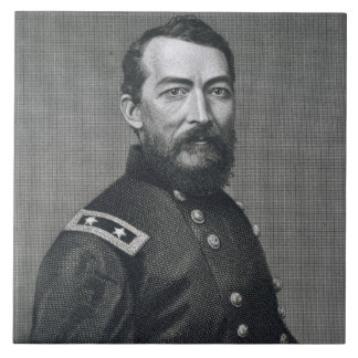 General Philip Sheridan, engraved from a photograp Ceramic Tile