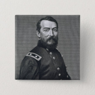 General Philip Sheridan, engraved from a photograp Pinback Button