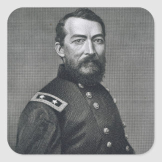 General Philip Sheridan, engraved from a photograp Square Sticker