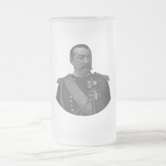 General Philip Sheridan Frosted Glass Beer Mug