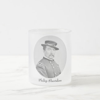 General Philip Sheridan Frosted Glass Coffee Mug