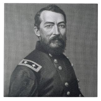 General Philip Sheridan, grabado de un photograp Azulejo Cuadrado Grande