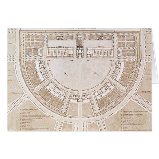 General plan of the salt works in 'ideal city' card