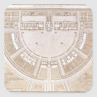 General plan of the salt works in 'ideal city' square sticker