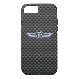 General Private Air Pilot Chrome Like Star Wings iPhone 7 Case