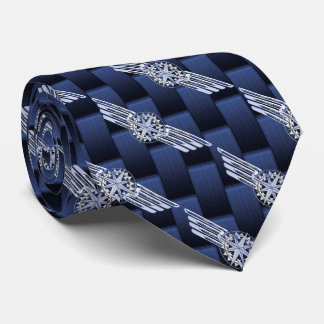 General Private Air Pilot Chrome Like Wings Neck Tie