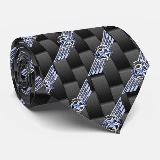General Private Air Pilot Chrome Like Wings Tie