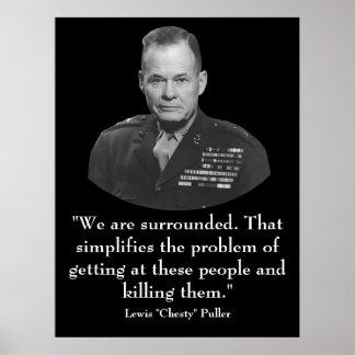 General Puller y cita Impresiones